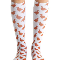 Duck Knee High Socks