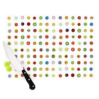 "Theresa Giolzetti ""Fruit Pattern"" Food Painting Cutting Board"