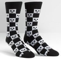 Sock It To Me Check Your Skull Crew Socks