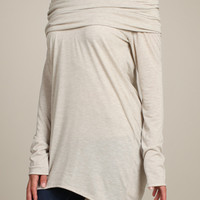 Skim My Shoulders Shawl Collar Long Sleeve Top