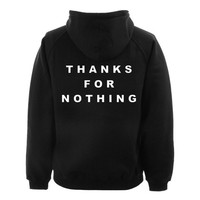 thanks for back hoodie