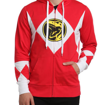 Mighty Morphin Power Rangers Red Ranger Costume Hoodie