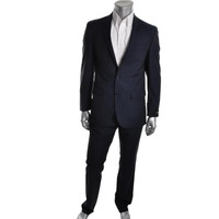 Kenneth Cole New York Mens Wool Slim Fit Two-Button Suit