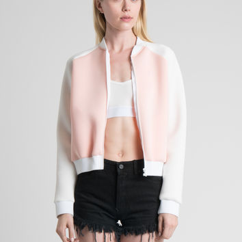Dust Devil Bomber Jacket in Pink