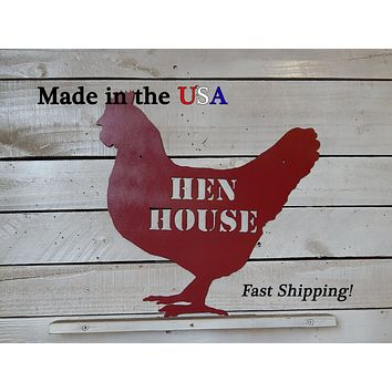 Hen House Sign, Coop Decor