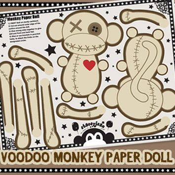 VooDoo Monkey - DIY Paper Doll