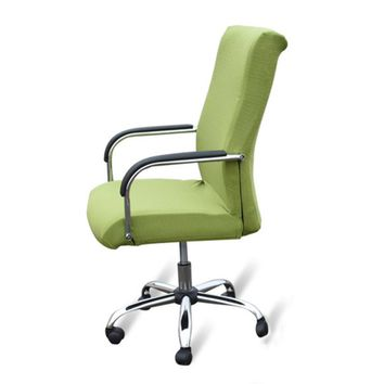 Seat Covers for Computer Chairs Elastic Office Chair Cover Stretch Armchair Covering Dining Chair Protector Slipcover