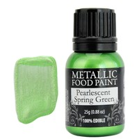 Spring Green Pearlescent Edible Paint RD