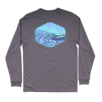 Under the Neon Long Sleeve Tee in Pepper by Waters Bluff