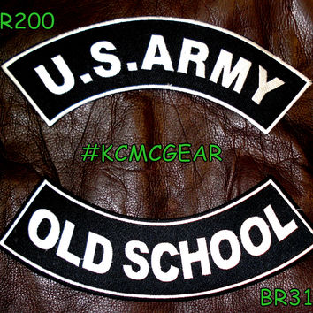 Military Patch Set Army Old School Embroidered Patches Sew on Patches for Jackets