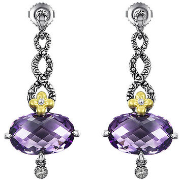 Barbara Bixby Sterling & 18K 12.50 cttw Amethyst Earrings — QVC.com