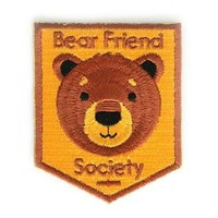 Bear Friend Society Decorative Embroidered Sew or Iron-on Backing Patch