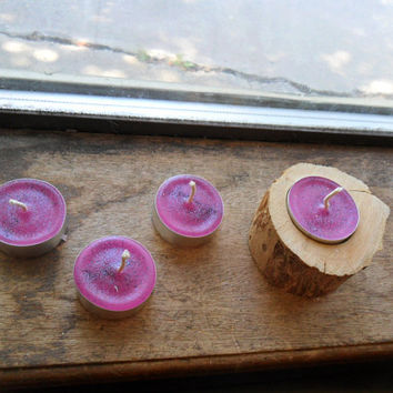 Berry bewitching brew scented, tea light candles, handmade tealights (4) CLEARANCE