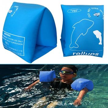 Swimming Arm Ring Inflating Floating Armband Circle Float Adult Kids Safety Water Air Floating Sleeve