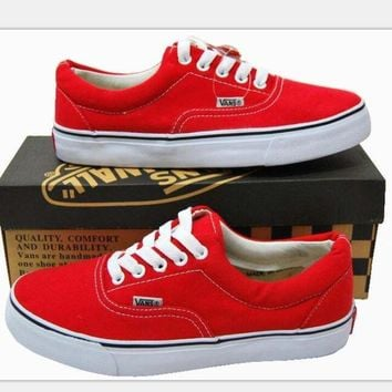 Vans Canvas couple Classics Old Skool Sneaker red six color