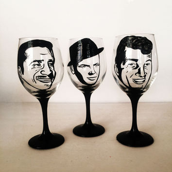 The Rat Pack Wine Glass Set - 3 glasses - 20 oz