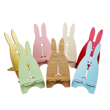 mobile phone accessories New Cute Rabbit  Universal Cell Phone Desk Stand Holder For Tablet ipad iPhone for gps Freeshipping