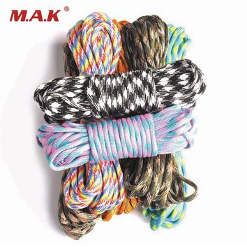 High Quality 550 Paracord Parachute Cord Lanyard Accessories Mil Spec Type III 7 Strand Survival Rope for Climbing Camping