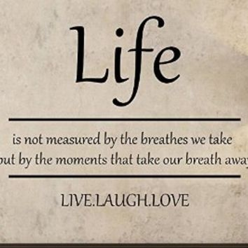 Life Live Laugh Love Quote Wall Decal From Amazon
