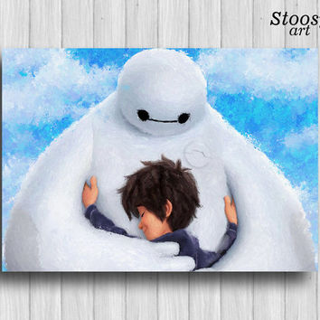 big hero 6 print baymax poster disney nursery decor