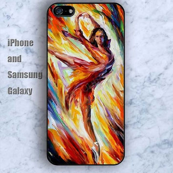 Watercolor Taxi dancer colorful iPhone 5/5S Ipod touch Silicone Rubber Case, Phone cover
