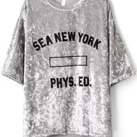 Sea New York PHYS. ED Graphic Print Grey T-Shirt