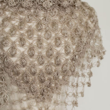 Bridal Shrug // Bridal Bolero // Shawl // Winter accessories // Wedding //Bride accessories //  Bridal Bolero // Crochet Shawl