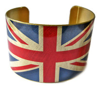 United Kingdom FLAG cuff bracelet UK British Union Jack Heritage