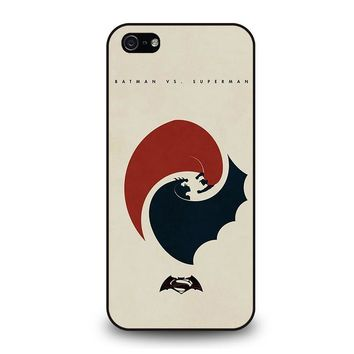 SUPERMAN VS BATMAN YIN YANG iPhone 5 / 5S / SE Case Cover