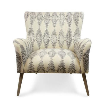 Grey Ikat Chair