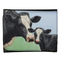 Holstein Cow and Calf Leather Wallets