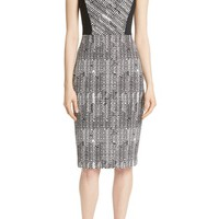 Jason Wu Herringbone Jacquard Sheath Dress | Nordstrom
