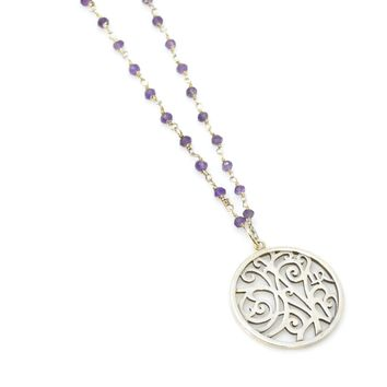 Amethyst and Sterling Silver Rosary Chain