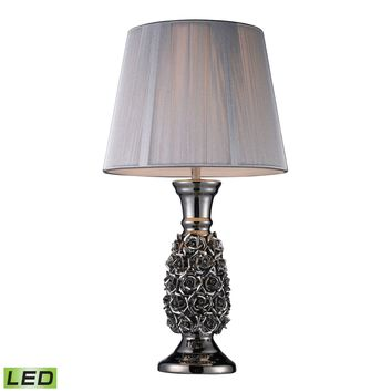 Roseto LED Table Lamp In Alisa Silver With Silver String Shade Alisa Silver