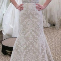 Marisa Mermaid Lace Strapless Wedding Gown