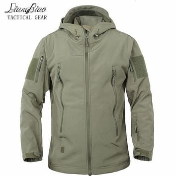 Trendy Winter Jacket Army Camouflage Coat Military  Waterproof Windbreaker Raincoat Hunt Clothes Army  Men Outerwear s And Coats AT_92_12
