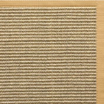 Sustainable Lifestyles Bone Sisal Rug with Honeycomb Cotton Border