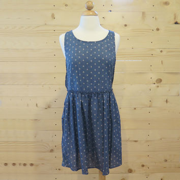 Printed Denim Dress