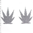 Silver Glitter Pot Leaf Pastease® Pasties Silver Glitter Pot Leaf Pastease® Pasties A-DD Silver