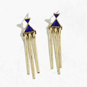 Dali Double Triangle Drop Earring