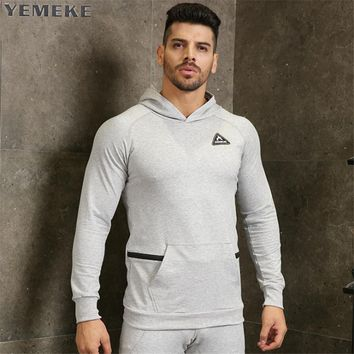 Men gyms hoodies gyms Fitness bodybuilding Sweatshirt Cross fit pullover sportswear workout Hooded Jacket clothing