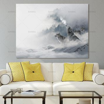 Canvas Painting Wall poster home decor Wall Art Pictures prints wolf on canvas modern decorations for living room no frame