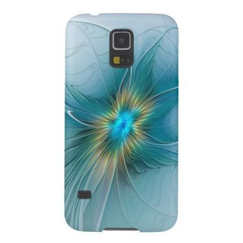 The little Beauty, Abstract Fractal Art with blue Galaxy S5 Case