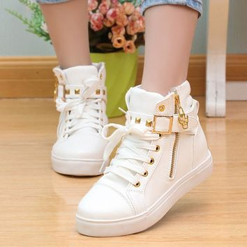 canvas-shoes-2017-women-shoes-fashion-zipper-wedge-high-help-solid-color-white-shoes-w number 1