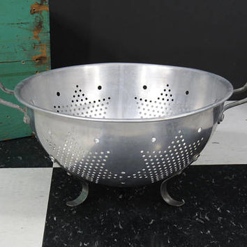 Star Colander Strainer . Aluminum With Handles . Vintage Kitchen . Circa 1950s