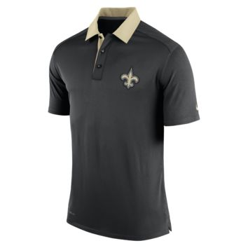 Nike Elite Coaches (NFL Saints) Men's Polo Shirt