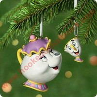 2001 Mrs. Potts and Chip Hallmark Ornament