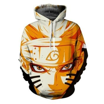 Cartoon characters Uzumaki Naruto/Sasuke 3d Anime Hoodie Sweatshirt Men Women Long Sleeve Outerwear casual Pullovers Jacket