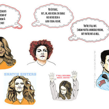 OITNB 8 Sticker Pack-  Pack 2 of 2