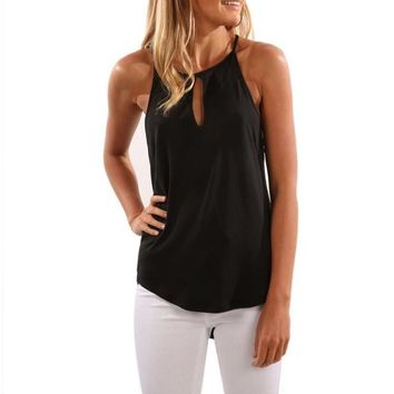 Women's Gathered Neck Keyhole Cami Top Blouse Shirt - Multiple Colors Available!!